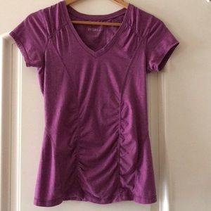 Zella lilac short sleeve workout tee, medium
